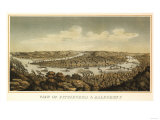Pittsburgh, Pennsylvania - Panoramic Map Posters