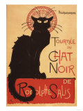 Montmarte, France - Chat Noir Cabaret Troupe Black Cat Promo Poster Posters by  Lantern Press