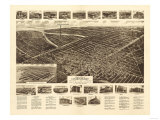 Lindenhurst, New York - Panoramic Map Posters by  Lantern Press