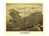 Newport, Rhode Island - Panoramic Map Posters by  Lantern Press