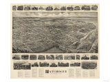 Patchogue, New York - Panoramic Map Posters