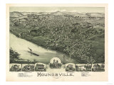 Moundsville, West Virginia - Panoramic Map Posters by  Lantern Press