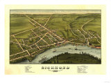 Richmond, Maine - Panoramic Map Posters by  Lantern Press