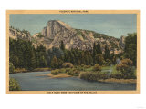 Yosemite National Park, CA - View of Half Dome from Valley Floor Posters by  Lantern Press