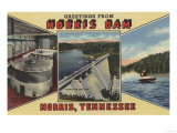 Norris, Tennessee - Greetings From Norris Dam Print