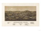 Menomonee Falls, Wisconsin - Panoramic Map Print by  Lantern Press