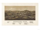Menomonee Falls, Wisconsin - Panoramic Map Print