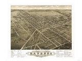 Ravenna, Ohio - Panoramic Map Print by  Lantern Press