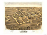 Manteno, Illinois - Panoramic Map Poster by  Lantern Press