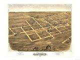 Manteno, Illinois - Panoramic Map Poster