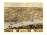 Lexington, Missouri - Panoramic Map Poster by  Lantern Press