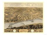 Lexington, Missouri - Panoramic Map Poster
