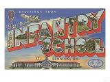 Ft. Benning, Georgia - Infantry School Poster by  Lantern Press
