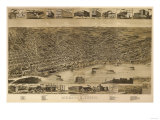 Memphis, Tennessee - Panoramic Map Poster by  Lantern Press