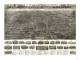 Manchester, Connecticut - Panoramic Map Print