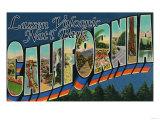 Lassen Volcanic National Park, CA - Large Letter Scenes Print
