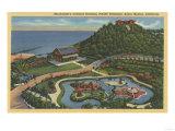 Santa Monica, California - Aerial of Bernheimer's Oriental Garden Poster