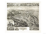 Parsons, West Virginia - Panoramic Map Print