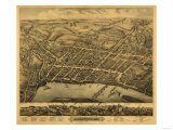 Middletown, Connecticut - Panoramic Map Poster