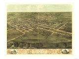 Marion, Iowa - Panoramic Map Poster