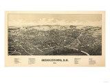 Middletown, New York - Panoramic Map Poster by  Lantern Press