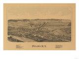Poland, New York - Panoramic Map Poster by  Lantern Press