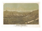 Philippi, West Virginia - Panoramic Map Poster
