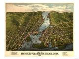 Mystic River, Connecticut - Panoramic Map Posters by  Lantern Press