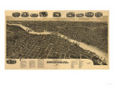 Rockford, Illinois - Panoramic Map Posters by  Lantern Press