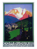 Mont Blanc, France - Skiing at Combloux Promotional Poster Posters