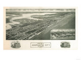 Margate, New Jersey - Panoramic Map Posters