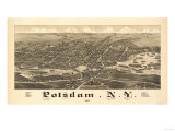 Potsdam, New York - Panoramic Map Posters by  Lantern Press