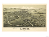 Latrobe, Pennsylvania - Panoramic Map Posters by  Lantern Press