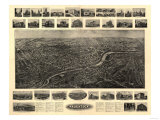 Naugatuck, Connecticut - Panoramic Map Posters by  Lantern Press