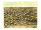Newton, Iowa - Panoramic Map Posters by  Lantern Press