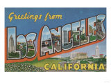 Los Angeles, California - Large Letter Scenes Posters by  Lantern Press