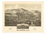 Millerton, New York - Panoramic Map Posters by  Lantern Press