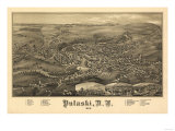Pulaski, New York - Panoramic Map Posters by  Lantern Press