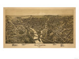 New Castle, Pennsylvania - Panoramic Map Posters