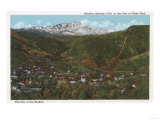 Manitou Springs, CO - The Spa of the Rockies, Foot of Pikes Peak Posters by  Lantern Press