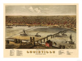 Louisville, Kentucky - Panoramic Map Posters