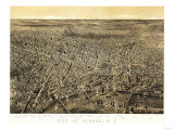 Newark, New Jersey - Panoramic Map Posters by  Lantern Press
