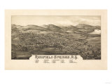 Richfield Springs, New York - Panoramic Map Posters by  Lantern Press