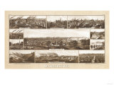 Milwaukee, Wisconsin - Panoramic Map Print