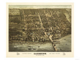 Lakeside, Ohio - Panoramic Map Poster by  Lantern Press