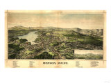 Monson, Maine - Panoramic Map Poster