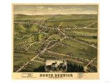 North Berwick, Maine - Panoramic Map Posters