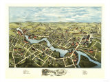 Putnam, Connecticut - Panoramic Map Posters by  Lantern Press