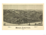 Mingo Junction, Ohio - Panoramic Map Posters by  Lantern Press