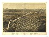 Monroe, Michigan - Panoramic Map Posters